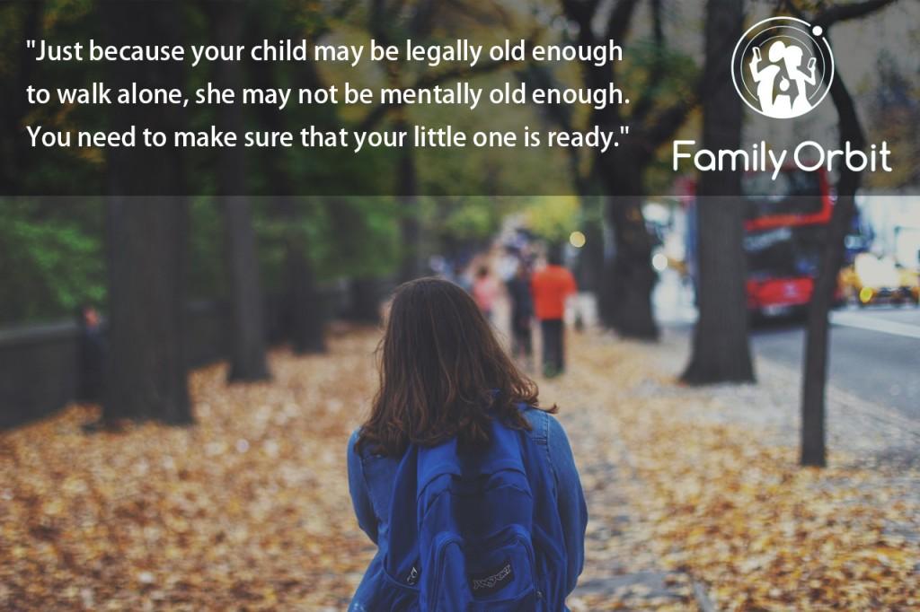 Children Walk to School Alone