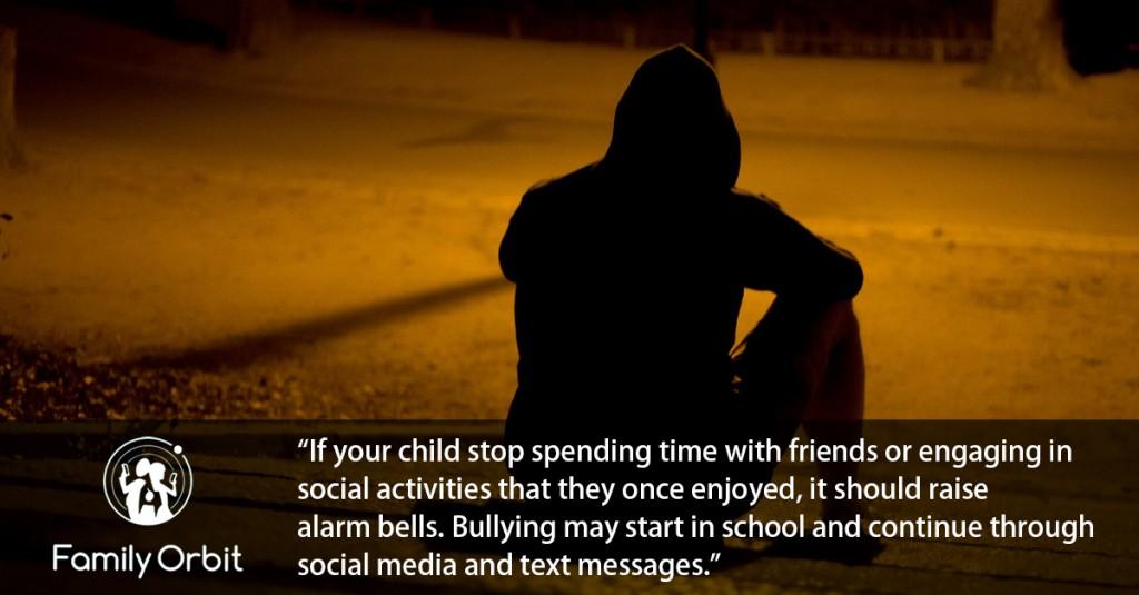 teen suffering cyber bullying
